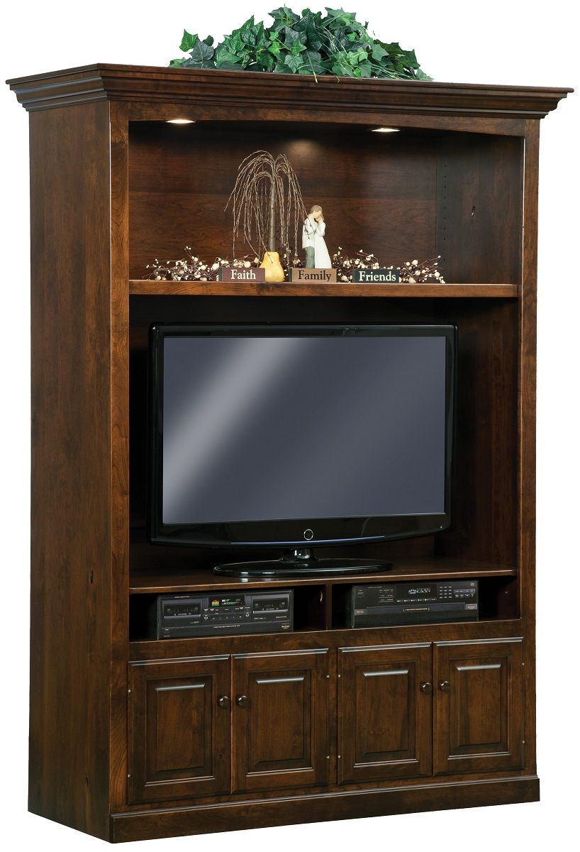 Brown Maple TV Entertainment Center