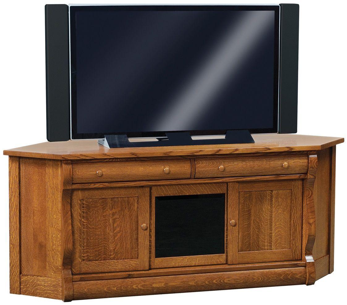 Oak Corner Media Console