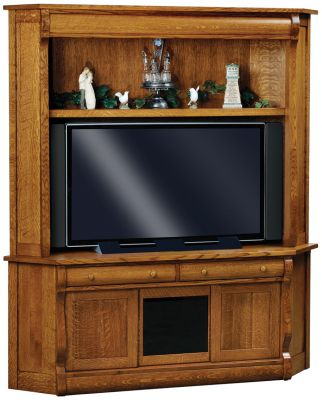 Wyndlot Sleigh Corner Entertainment Center
