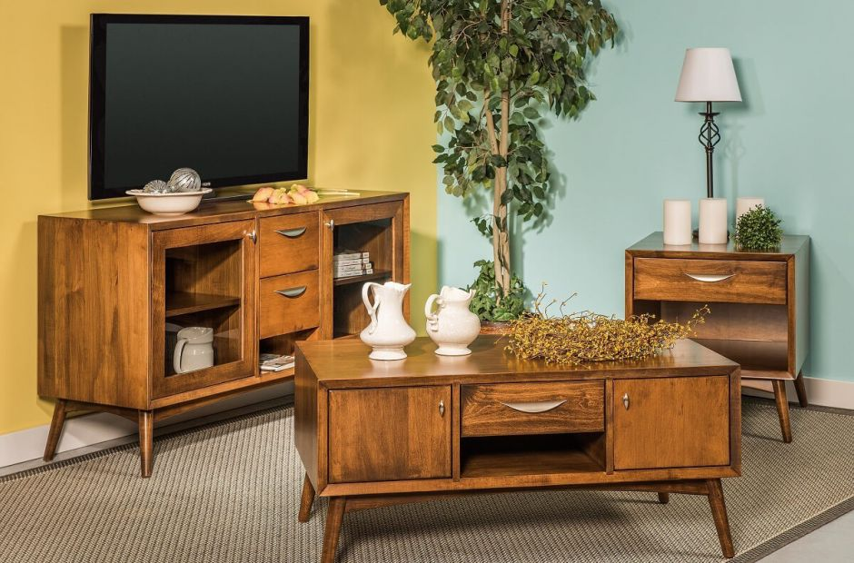 Draper MidCentury Living Room Set Countryside Amish Furniture