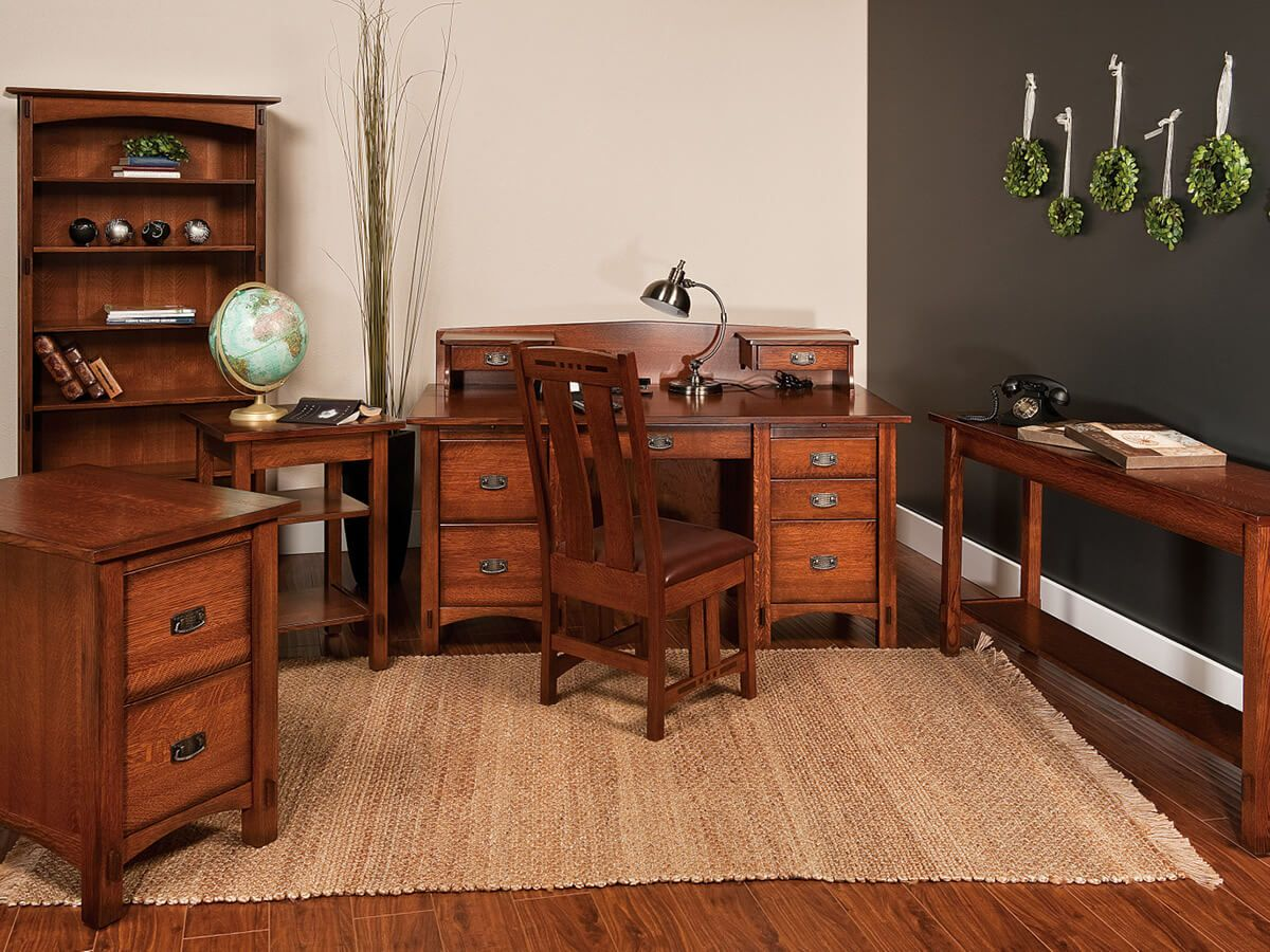 Capistrano Hardwood Office Set