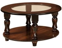 Church Hill Round Glass Topped Coffee Table