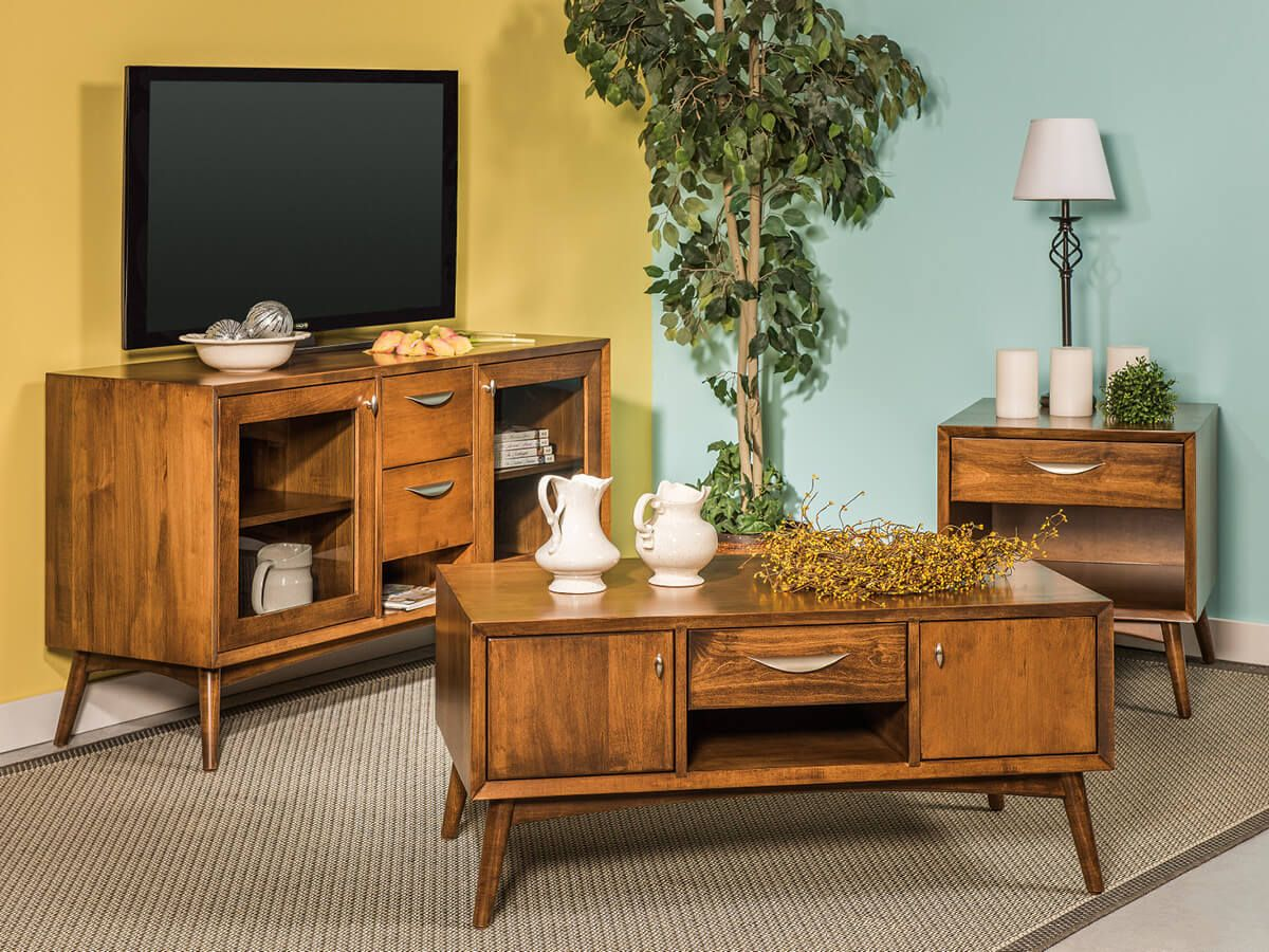 Draper Mid-Century Living Room Set