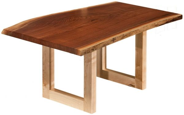 Lehigh Live Edge Coffee Table Countryside Amish Furniture