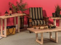Lehigh Live Edge Living Room Set