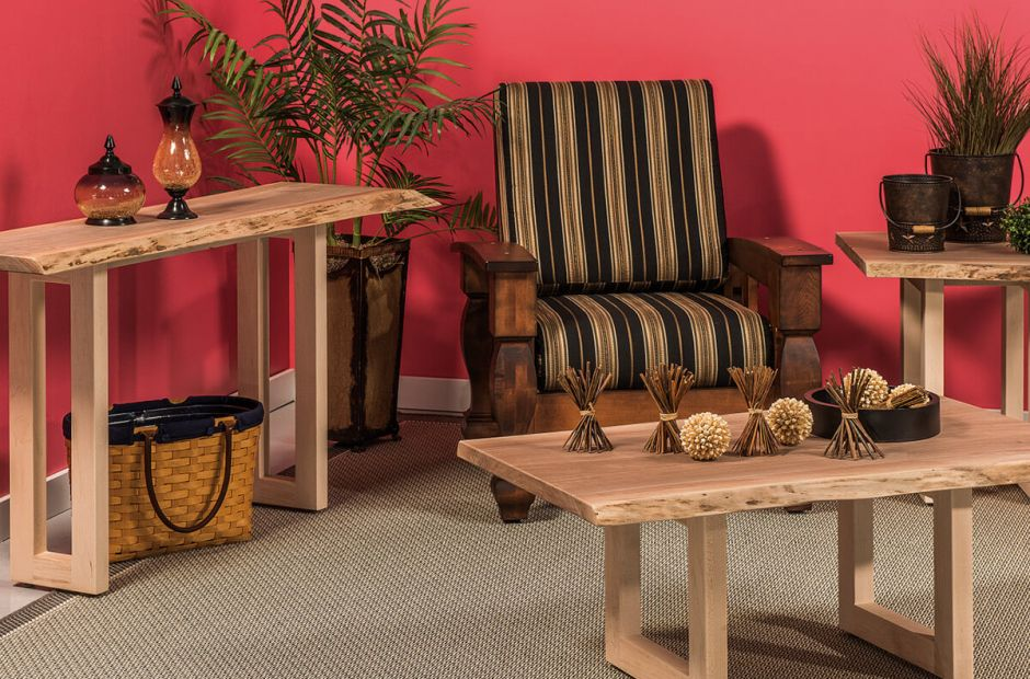 Lehigh Live Edge Living Room Set image 1