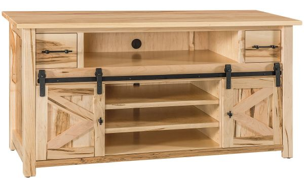 Natural Hardwood Rustic TV Console