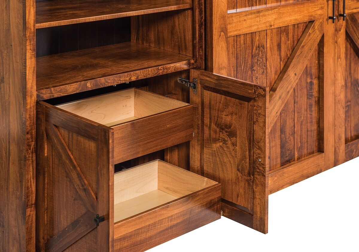 Dovetailed Drawers in Side Units