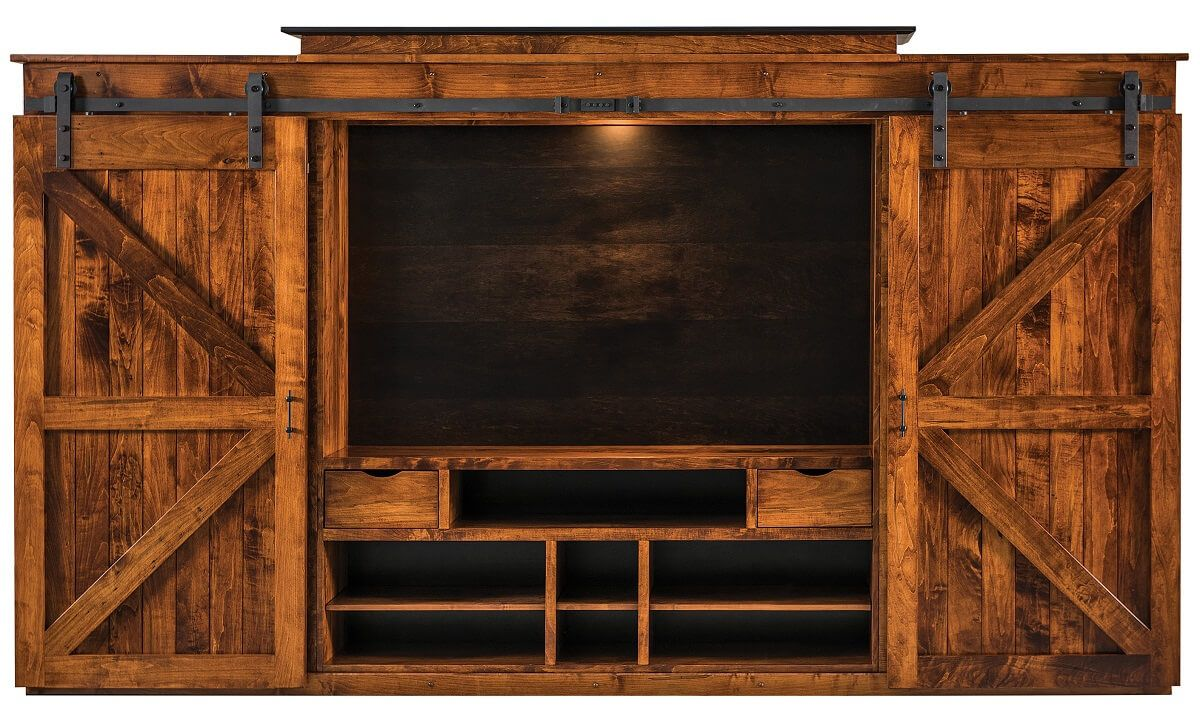 Amish Made Rustic Entertainment Center