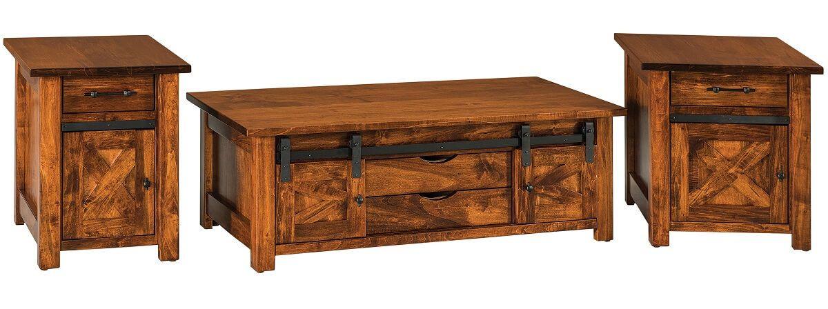 Barn Door Home Accent Tables