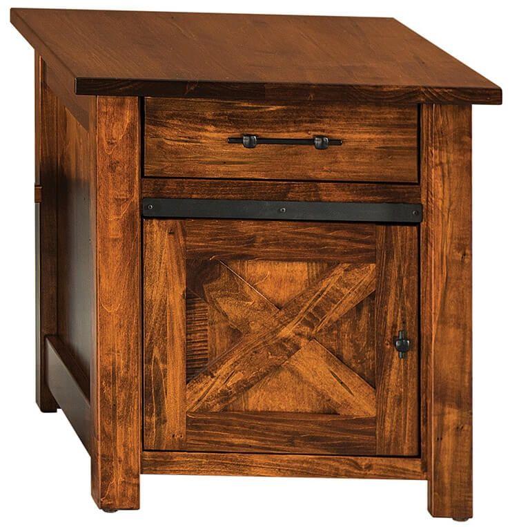 Nolan Barn Door Side Table