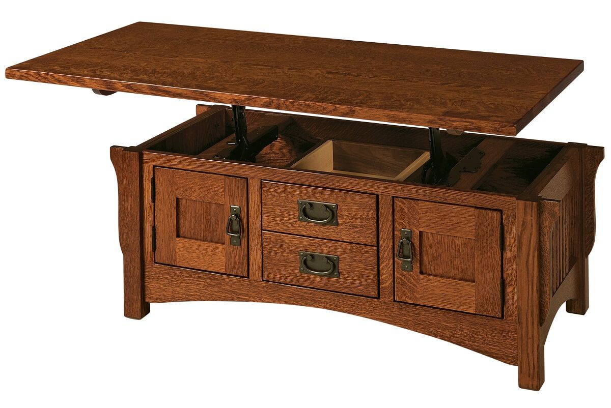Roosevelt Lift Top Coffee Table Countryside Amish Furniture