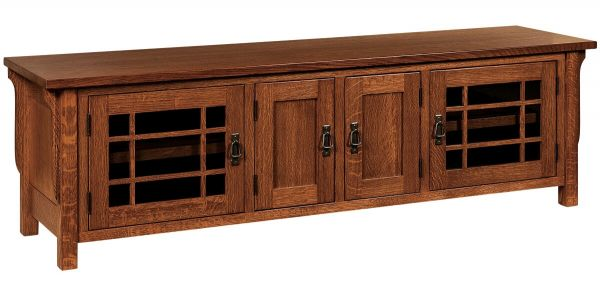 Large Solid Wood TV Console