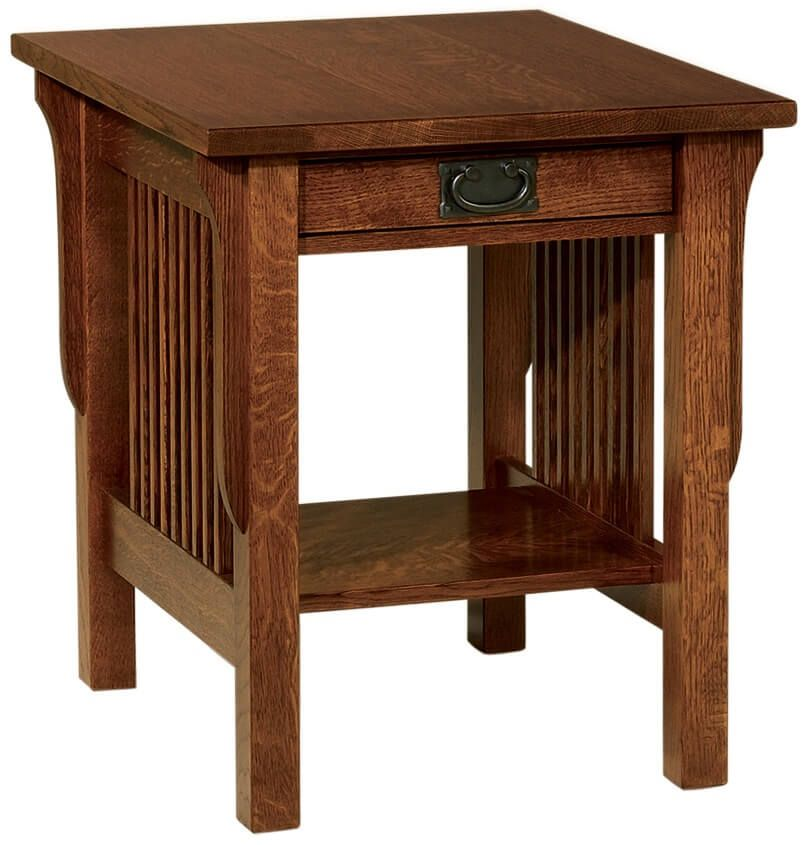 Large Mission End Table