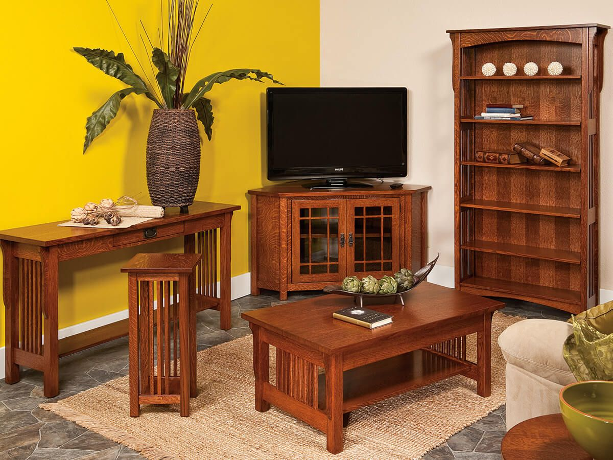 Solid Wood Mission Living Room Furniture