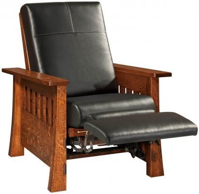 Arts and Crafts Hardwood Recliner