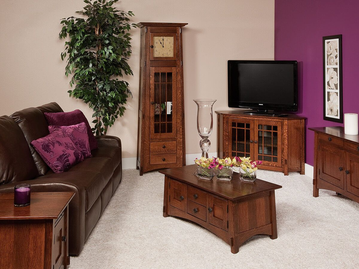 Hardwood Arts and Crafts Living Room Set