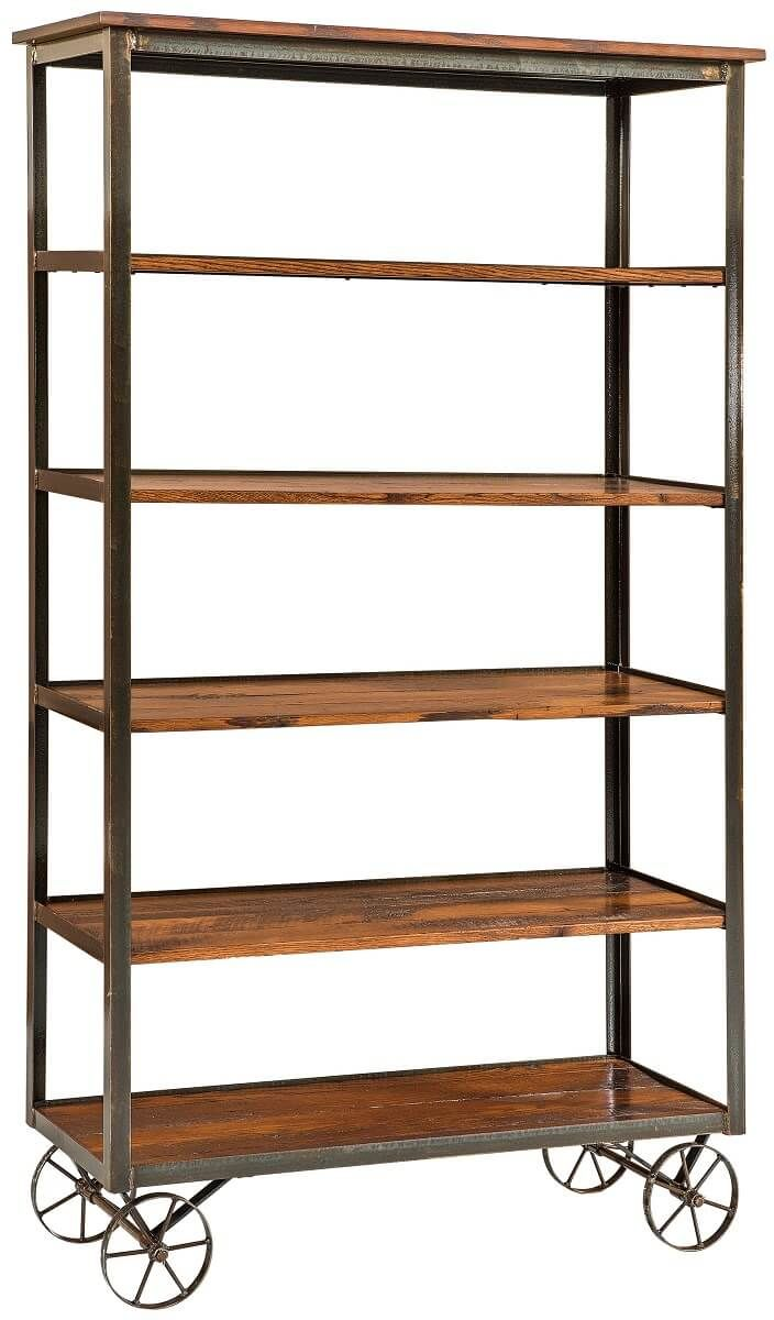 Industrial Wood Bookcase