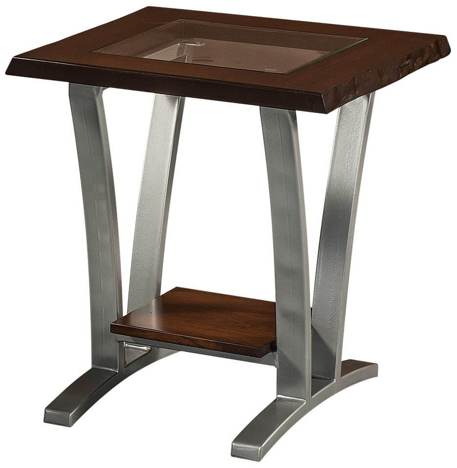 Rustic Cherry Live Edge End Table