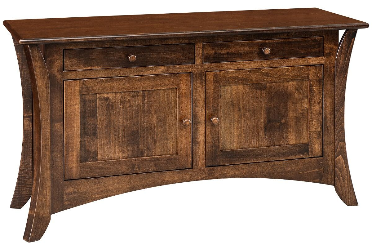 Brown Maple Console Table