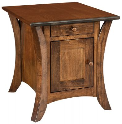 Brown Maple Side Table