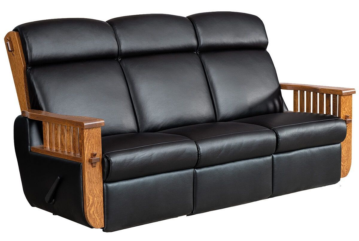 Mission Leather Reclining Sofa