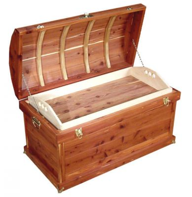 Kerridon Cedar Trunk opened with tray