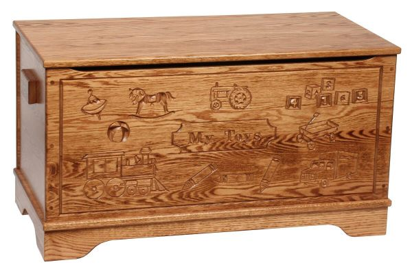 Macie Engraved Toy Box