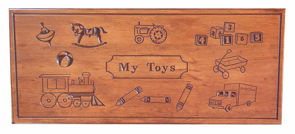 Macie Toy Box engraving detail