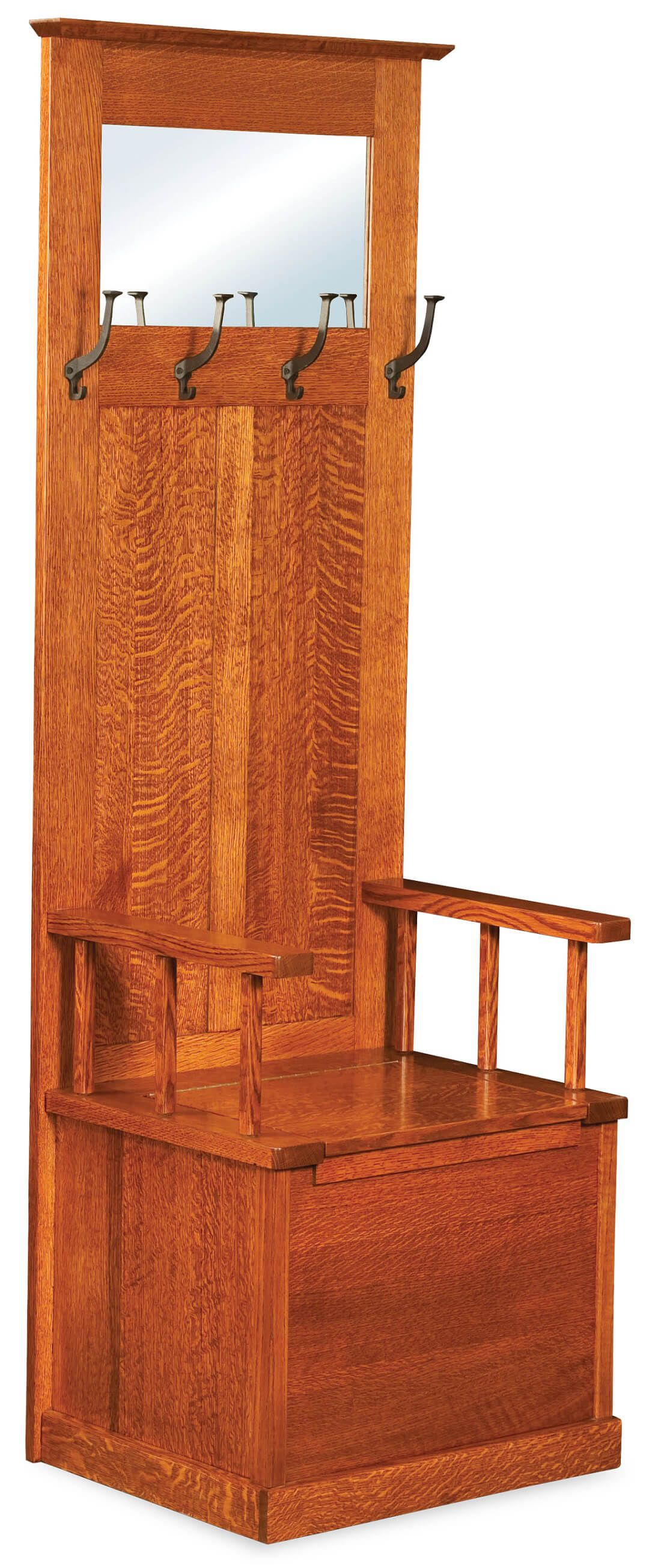 Rock Harbor Solid Wood Hall Tree Countryside Amish Furniture