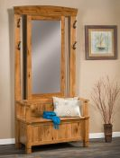 Weirton Mirrored Entryway Seat
