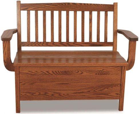 Elmore Hardwood Storage Bench Countryside Amish Furniture