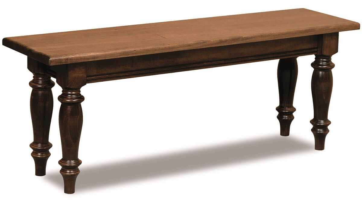 Greenbrier Bench in Brown Maple
