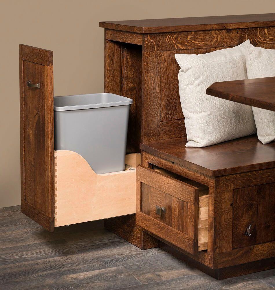 Full Extension Waste Basket Cabinet
