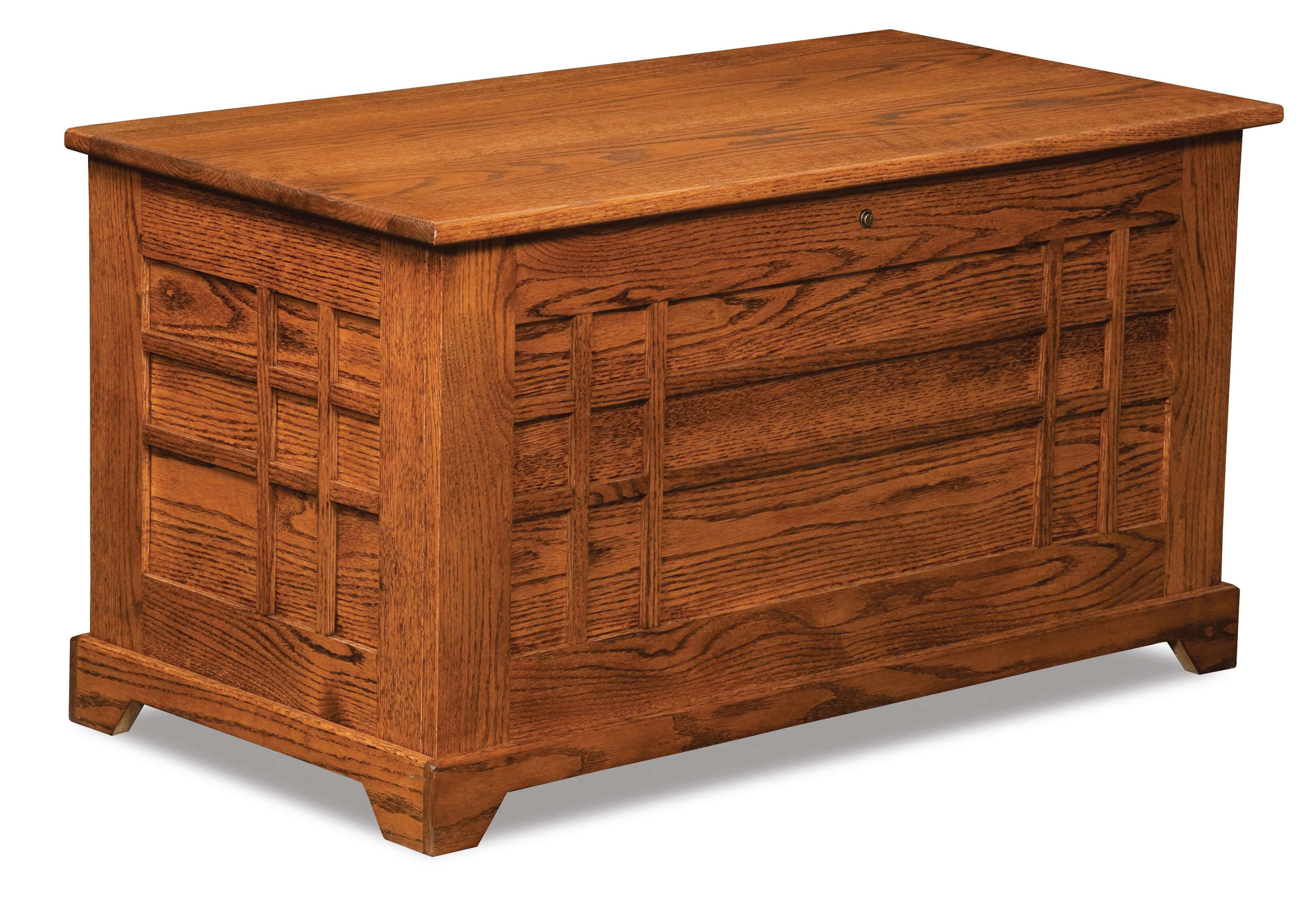 Selena Cedar Chest with in-laid panels