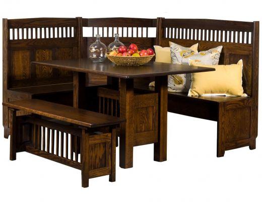 Tomas Mission Corner Dining Set - Countryside Amish Furniture