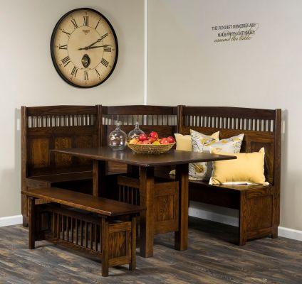 Tomas Mission Corner Dining Set Countryside Amish Furniture