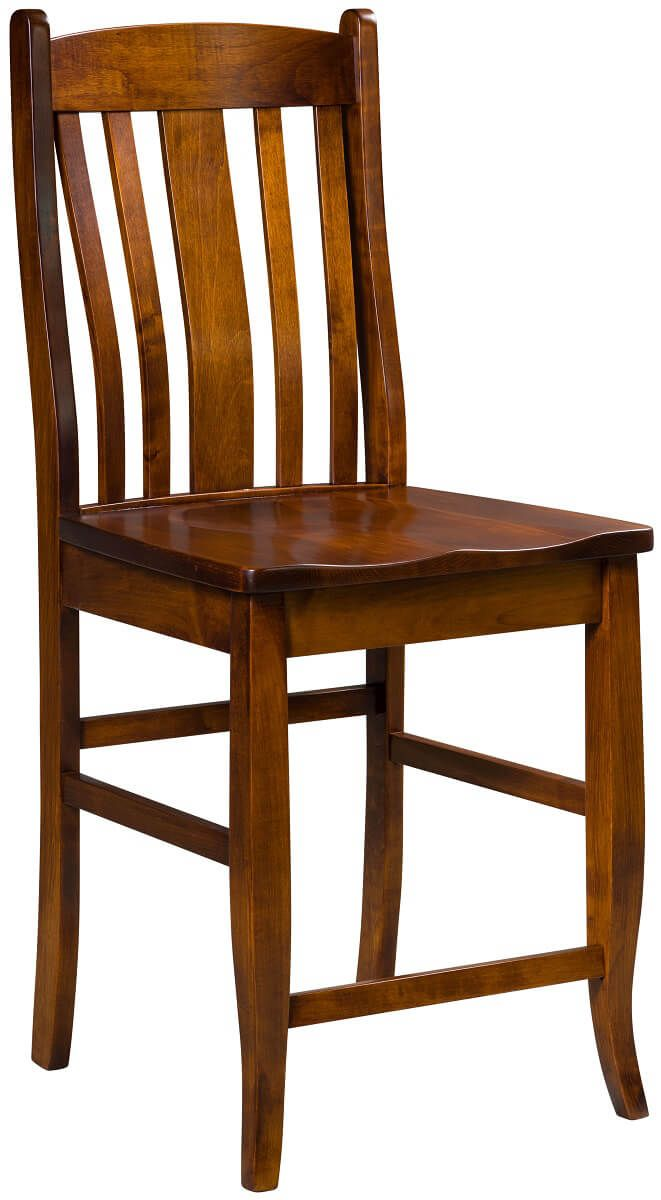 Astaire Pub Chair in Brown Maple