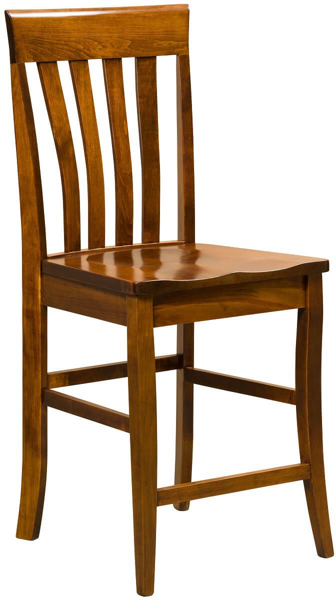 Castleton Bar Chair in Brown Maple