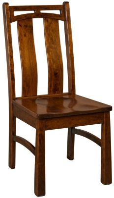 Falling Water Side Chair in Brown Maple