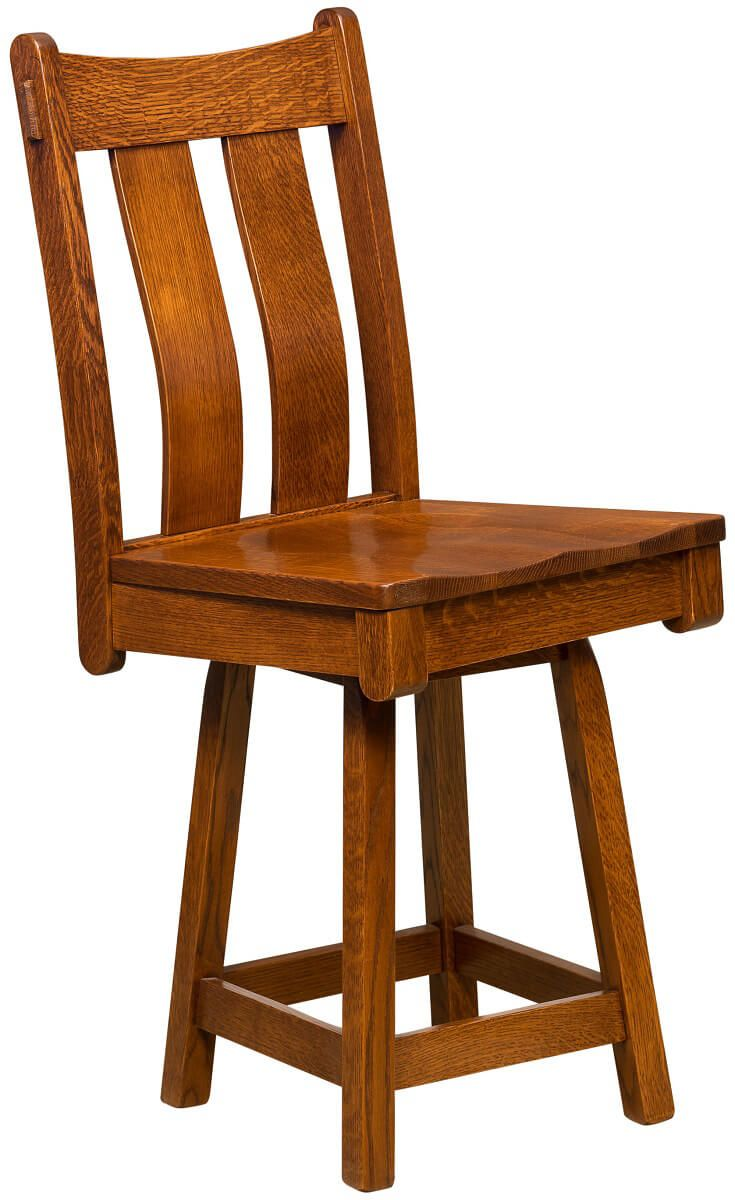 Fontana Swivel Craftsman Bar Stool