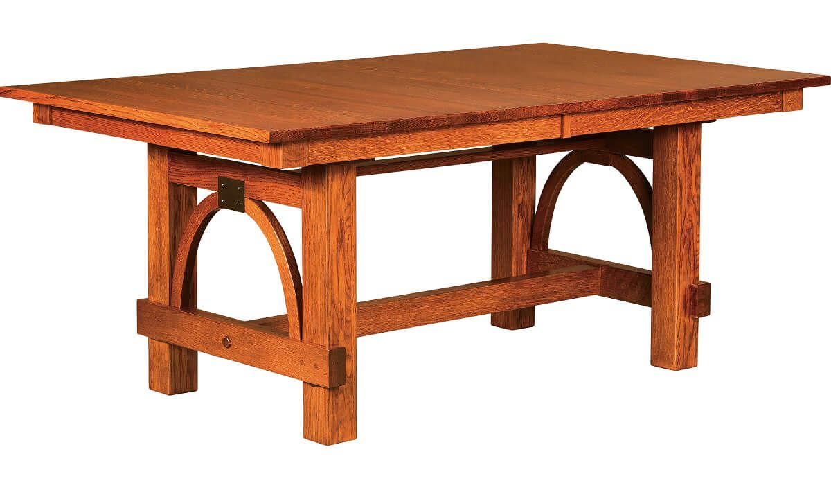 Gridley Modern Trestle Dining Table