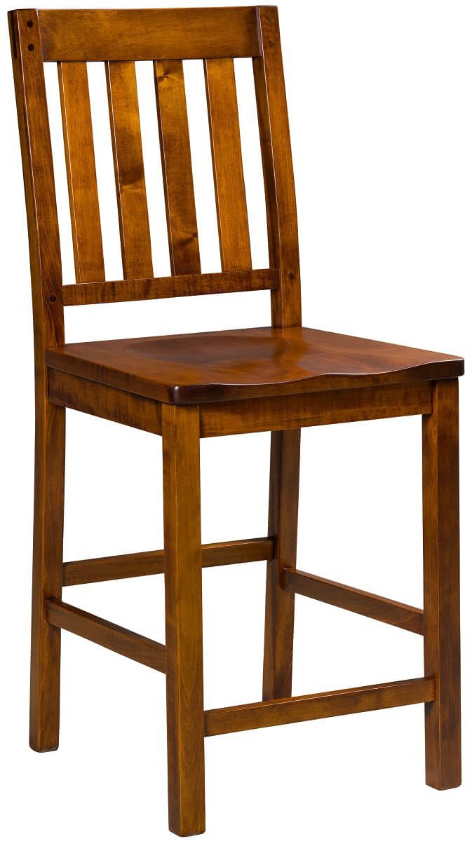 Hotchkiss Barstool in Brown Maple