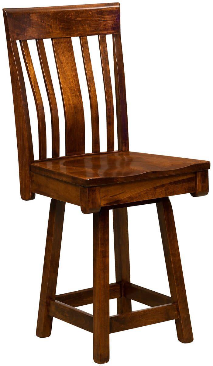 Huxley Swivel Bar Amp Bistro Stool Countryside Amish Furniture