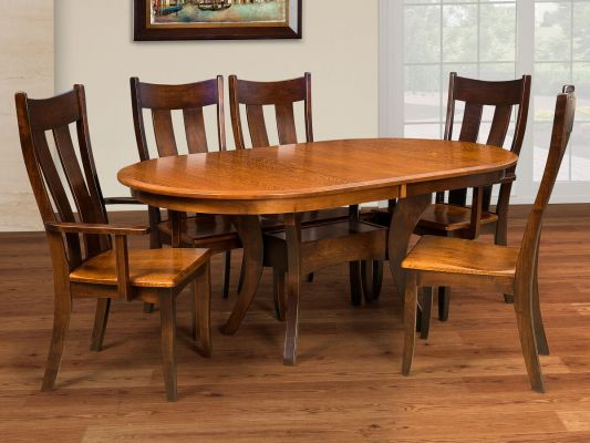 Knox County Oak Oval Dining Table Countryside Amish