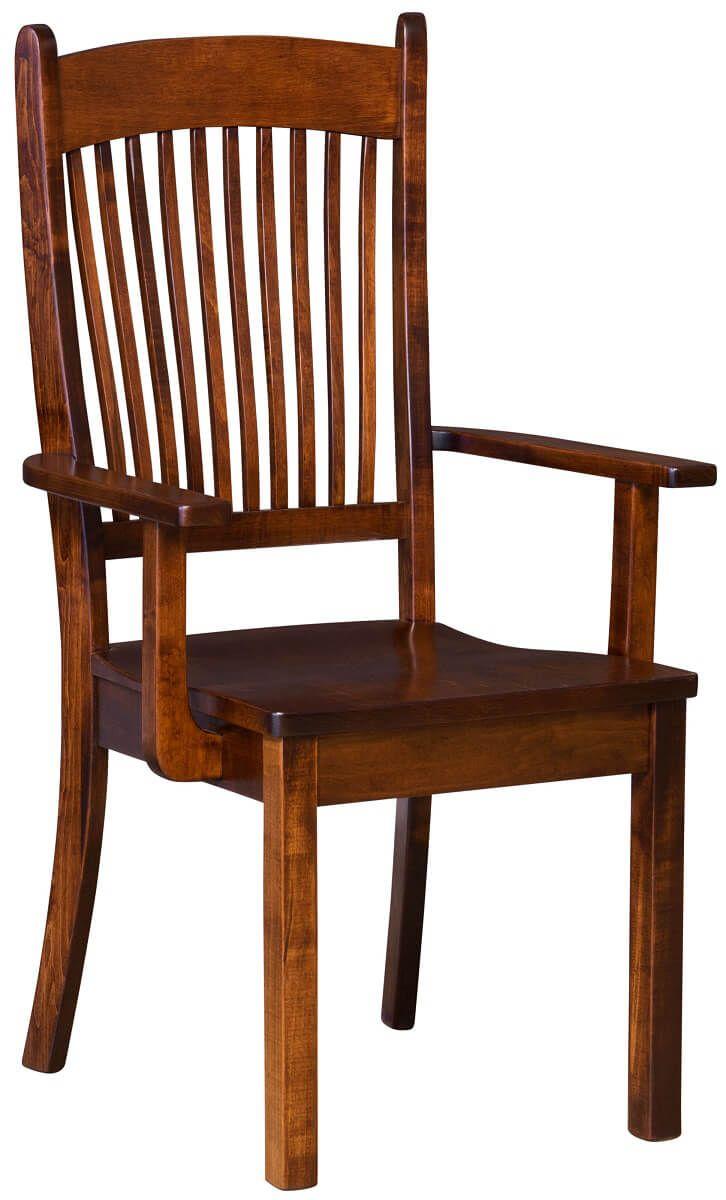 Brown Maple Kitchen Arm Chair