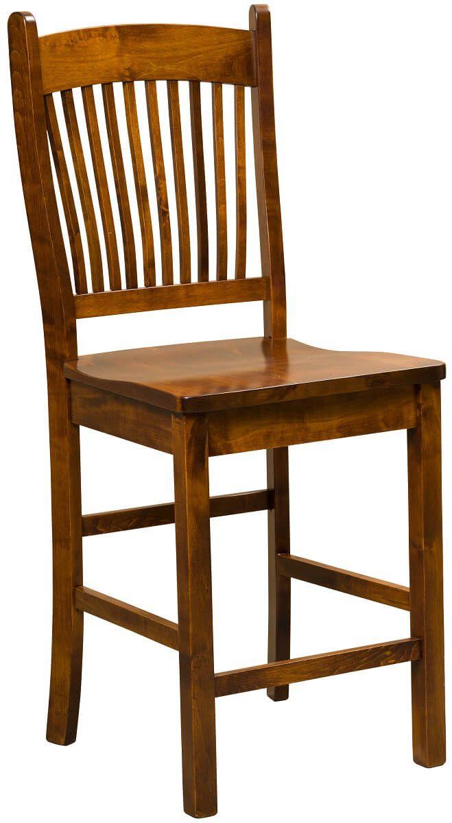 Kramer Bar Chair in Brown Maple