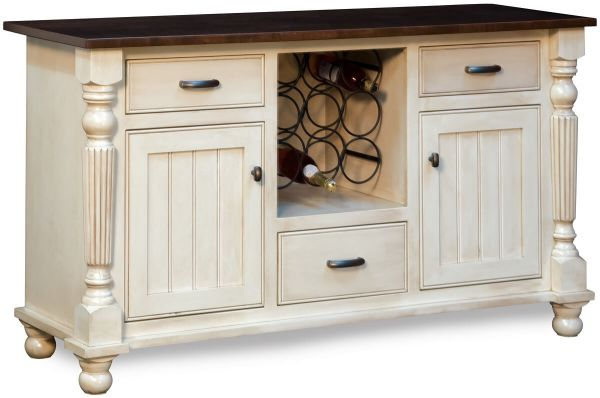 Bruce Trail White Wine Cabinet Countryside Amish Furniture