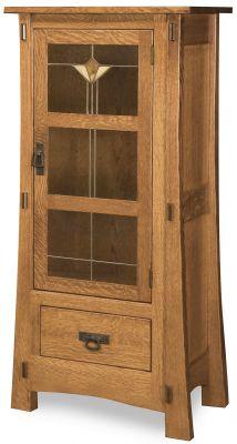 Del Toro Narrow Glass Cabinet Countryside Amish Furniture