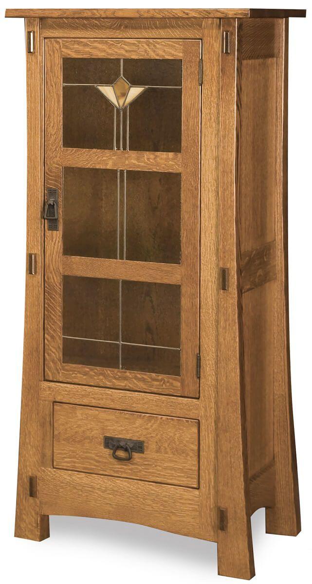 Del Toro Narrow Glass Cabinet